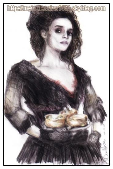 Helena Bonham Carter by mein-dessins1402